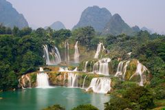 DeTian Wasserfall Stockfotografie