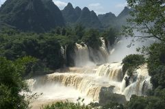 Detian Waterfall. Across China and Vietnam Stock Photography