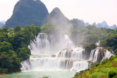 Detian waterfall in China Royalty Free Stock Images
