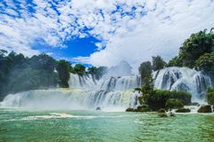 DeTian waterfall Stock Photo