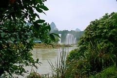 Detian Falls. Detian Waterfall is located in Detian village, Xinxian County, Chongzuo, the Guangxi Zhuang Autonomous Region, and the upper reaches of the GUI Stock Images