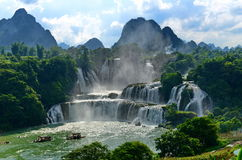 Detian waterfall. The waterfall is located in Guangxi, China Stock Images