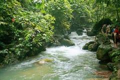 Detian Falls. Detian Waterfall is located in Detian village, Xinxian County, Chongzuo, the Guangxi Zhuang Autonomous Region, and the upper reaches of the GUI Royalty Free Stock Photography
