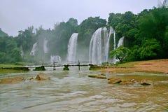 Detian Falls. Detian Waterfall is located in Detian village, Xinxian County, Chongzuo, the Guangxi Zhuang Autonomous Region, and the upper reaches of the GUI Stock Photos