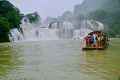 Detian Falls. Detian Waterfall is located in Detian village, Xinxian County, Chongzuo, the Guangxi Zhuang Autonomous Region, and the upper reaches of the GUI Royalty Free Stock Photo