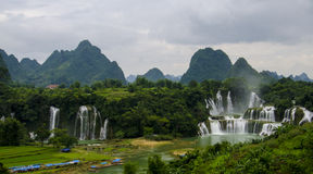 Detian waterfall. Taken from detian cross-country (China-Vietnam) waterfall in Baise, Guangxi province in China Stock Image