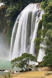 Detian Waterfalls in China, also known as Ban Gioc in Vietnam. Is the fourth largest transnational waterfalls in the world. Located in Karst hills of Daxin Stock Image