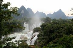 Detian waterfalls in Guangxi, China Stock Image