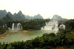 Detian waterfalls in Guangxi, China Stock Photos