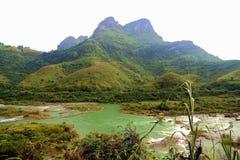 Detian waterfalls in Guangxi, China Royalty Free Stock Images