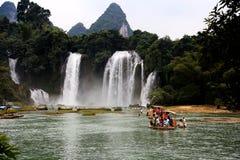 Detian waterfalls in Guangxi, China Royalty Free Stock Photography