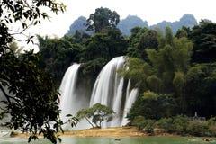 Detian waterfalls in Guangxi, China Royalty Free Stock Photos