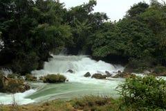 Detian waterfalls in Guangxi, China Royalty Free Stock Photo