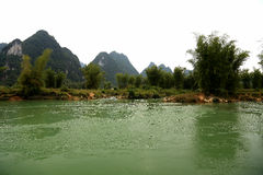 Detian waterfalls in Guangxi, China Royalty Free Stock Images