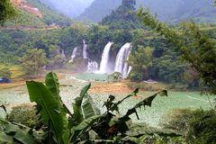 Detian waterfalls in Guangxi, China Royalty Free Stock Image