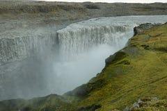 Detifoss瀑布在冰岛 免版税库存照片