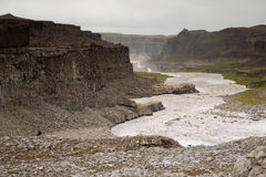 Detifoss canyon waterfall, Iceland Stock Photo