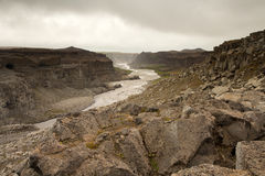 Detifoss canyon waterfall, Iceland Royalty Free Stock Photo
