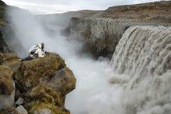 Detifoss siklawa w Iceland Fotografia Royalty Free