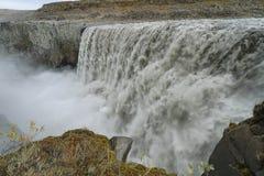 Detifoss vattenfall i Island Royaltyfri Fotografi