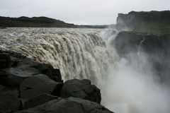 Detifoss-Wasserfall Stockfotos