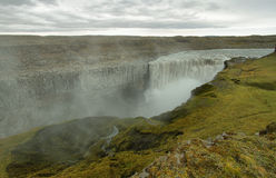 Detifoss-Wasserfall in Island Stockbild