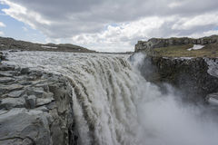 Detifoss waterfall in iceland Stock Photo