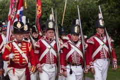 DETLING KENT/UK - AUGUSTI 29: Militär odyssey på Detling i Ke royaltyfria foton