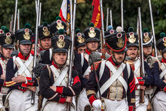 DETLING KENT/UK - AUGUSTI 29: Militär odyssey på Detling Kent arkivfoto
