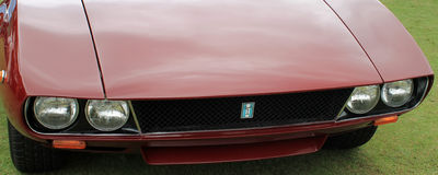 Detomaso mangusta headlamps and grill Stock Images