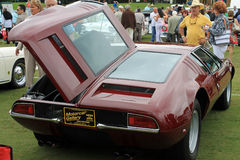 Detomaso mangusta rear hood open Stock Images