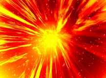 Detonation in space stock photography