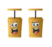 Detonator. Happy and anggry detonator illustration Royalty Free Stock Photo