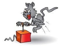 Detonatore della holding del gatto illustrazione di stock
