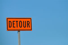 Detour Stock Image