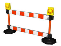 Detour. Isolated illustration of a striped construction barrier Royalty Free Stock Image
