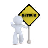 Detour now!. A symbol urging to detour Royalty Free Stock Photos