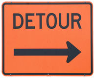 Detour Right royalty free stock photography
