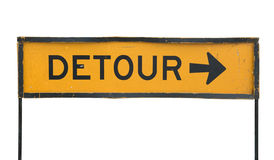 Detour road sign Stock Photos