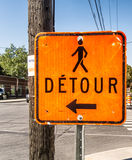 Detour Road Sign Royalty Free Stock Photography