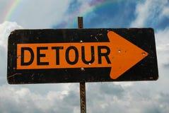 Detour Sign Stock Image