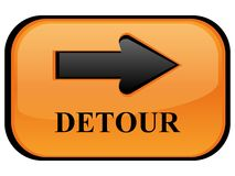 Detour sign. A computer generated image Royalty Free Stock Photography