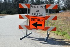Detour sign on American road Stock Images