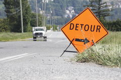 Detour Sign Royalty Free Stock Photography
