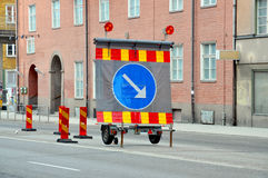 Detour sign keep right Royalty Free Stock Image