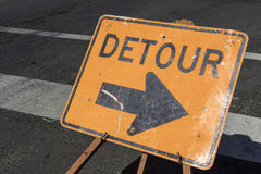 Detour Sign Royalty Free Stock Images
