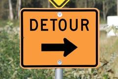 Detour Sign Stock Images