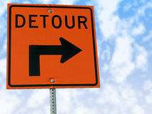 Detour traffic sign. Royalty Free Stock Image