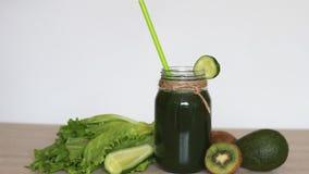 detox Alimento do vegetariano Verde vegetal dos batidos filme