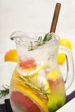 Detox citrus infused flavored water. Royalty Free Stock Images